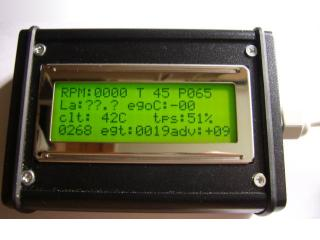 green LCD cased